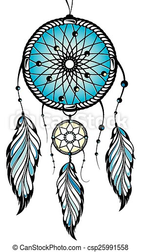 Clipart vector of indian dream catcher vector dream for Dream catcher graphic