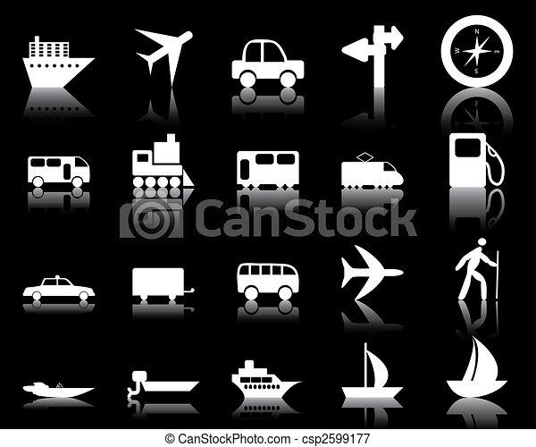 transportation icons set - csp2599177