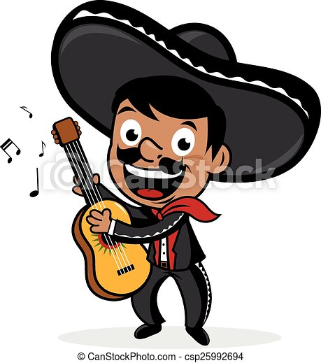 EPS vectores de mexicano, Mariachi, hombre, juego, guitarra ...