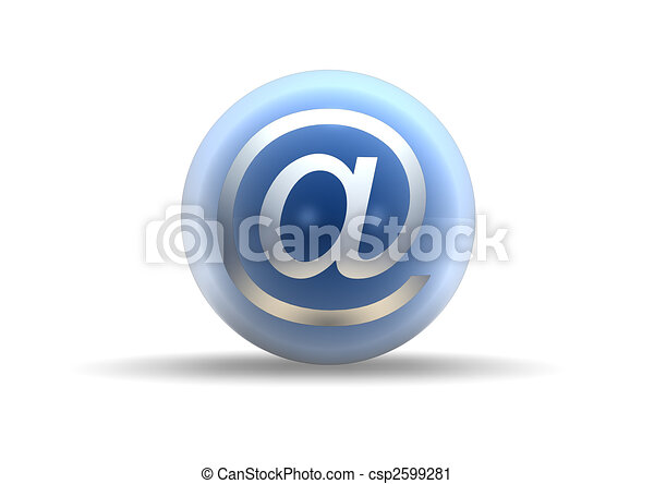 email symbol on white background - csp2599281