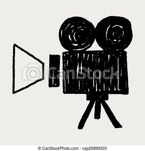 Video Recorder Vector Doodle Video Recorder