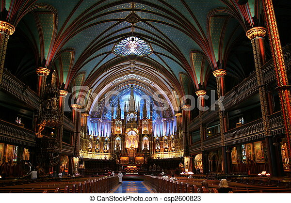 Basilique Notre-Dame de Montréal - csp2600823
