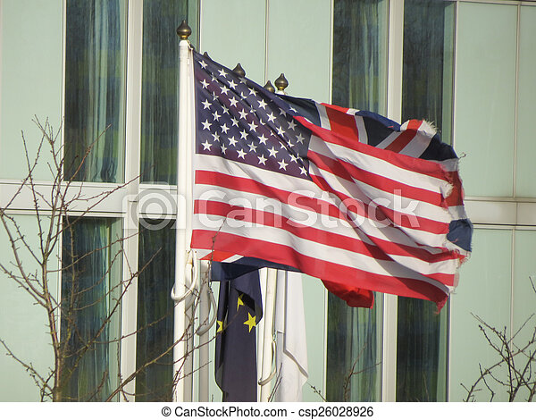 Flag of the USA (United States of America) waving