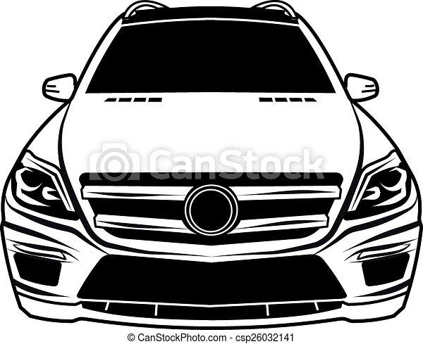 eps vector sedan auto viev voorkant auto sedan