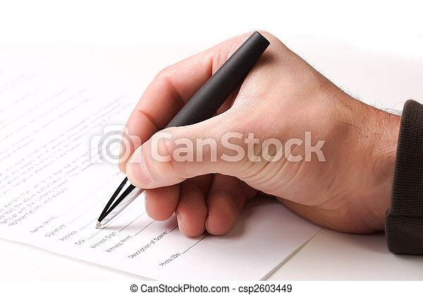 fill a form - csp2603449