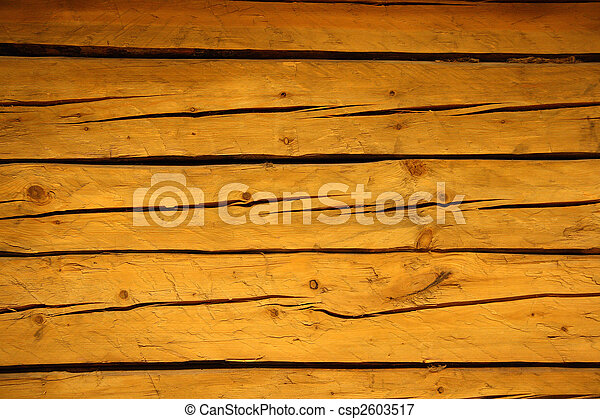 old cracked brown wooden planks - csp2603517