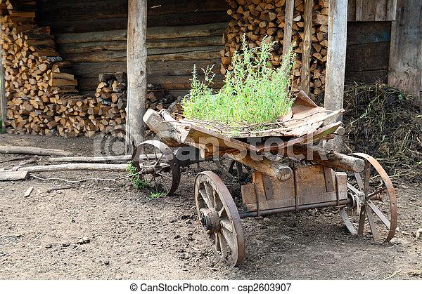 old obsolete wagon - csp2603907