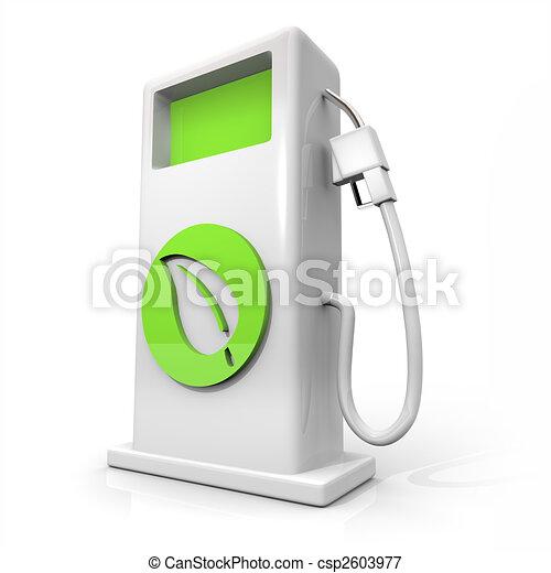 Alternative Fuel Gas Pump - Green Leaf - csp2603977