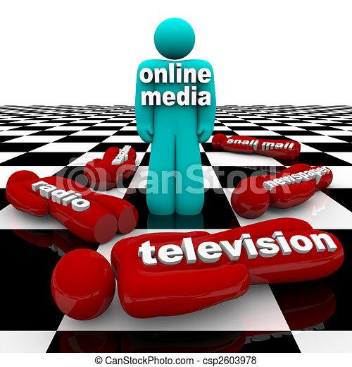 Stock Illustration of New Media vs. Old Media - The Battle ... - photo #48