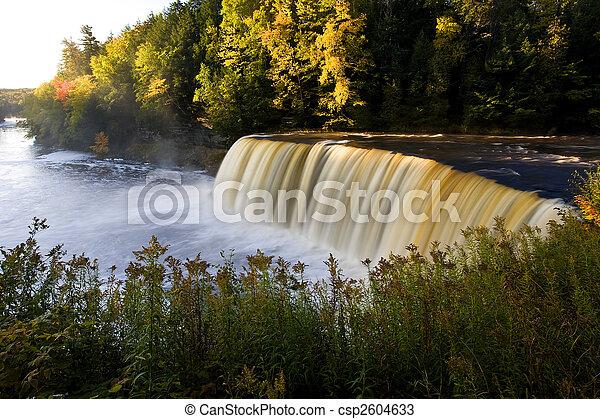 Michigan Waterfall In Autumn - csp2604633