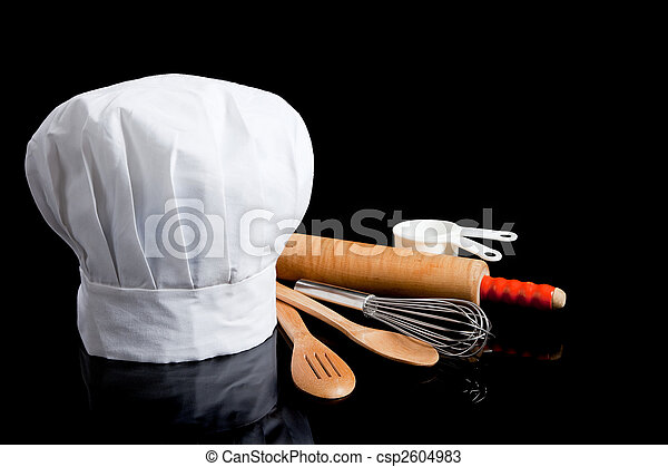 toque with cooking utensils - csp2604983