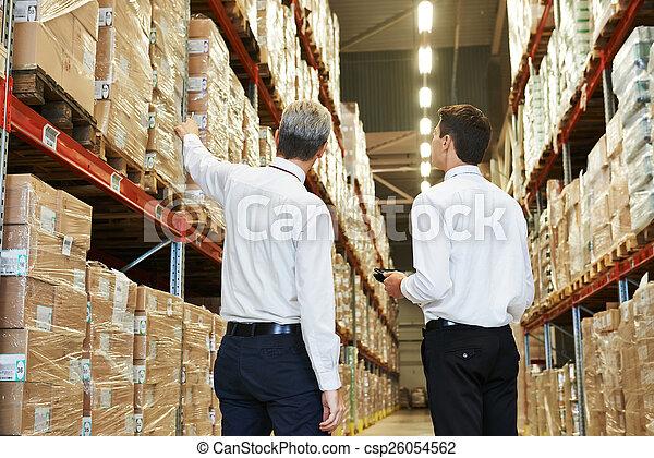 warehouse crew at work
