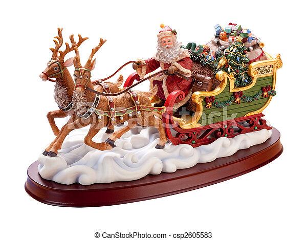 Antique Santa Sleigh - csp2605583