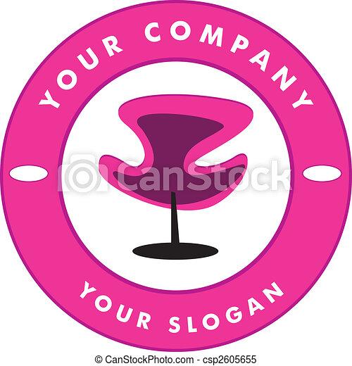 Hair Solon Logo Chair  - csp2605655