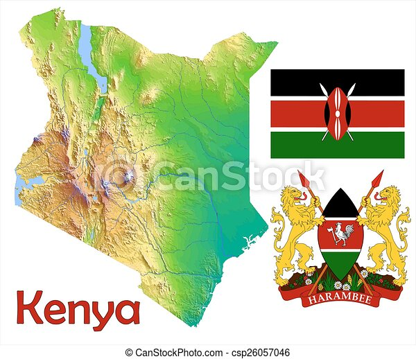 Kenya map flag coat - csp26057046
