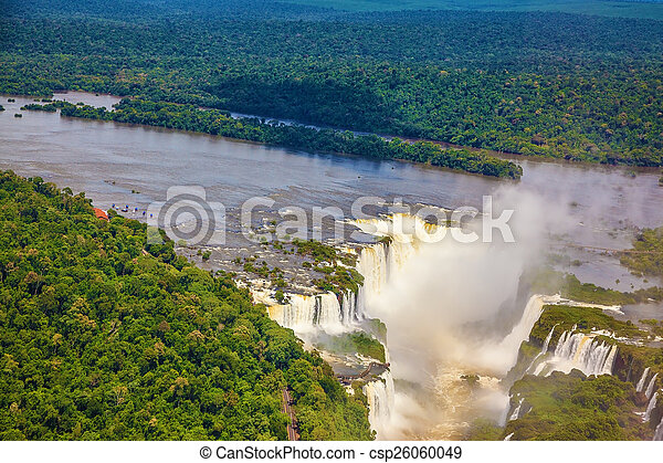 Iguazu River and Devil\'s Throat