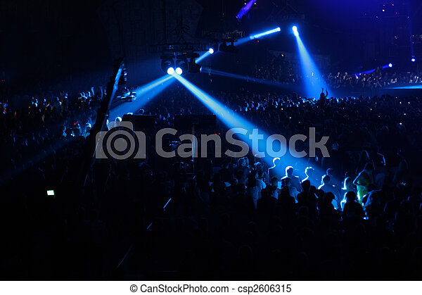 blue spotlight on concert - csp2606315