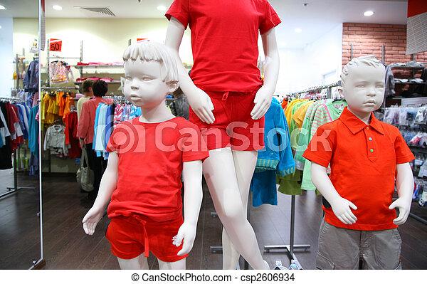 Child mannequins in  store - csp2606934