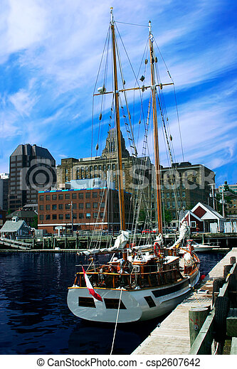 Sailboat in the City - csp2607642