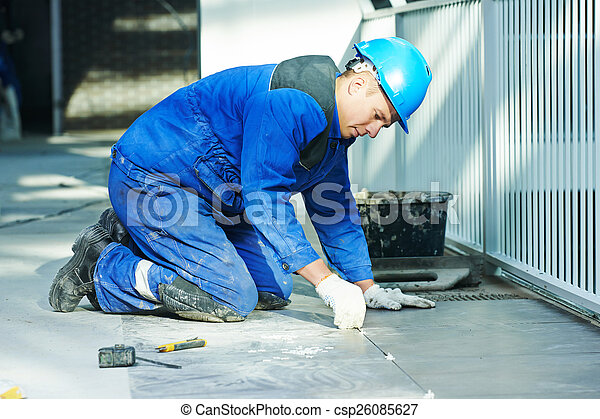 tiler at floor tiling renovation