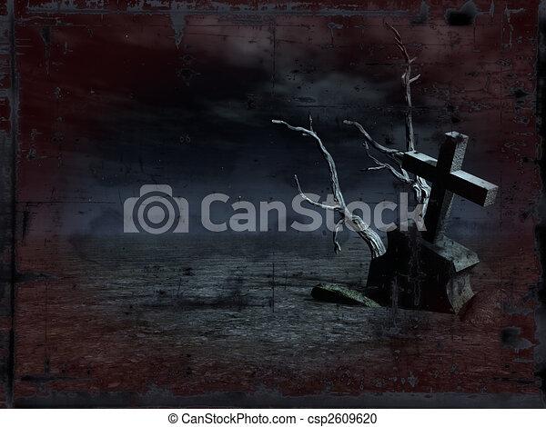 grunge grave - csp2609620