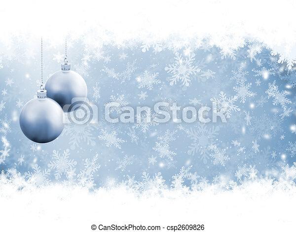 Golden snowflakes - csp2609826