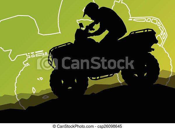 All terrain vehicle quad motorbike