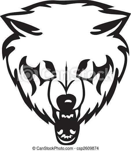 Vecteur eps de loup vecteur t te illustration t te de a loup sur csp2609874 - Tete de loup dessin ...