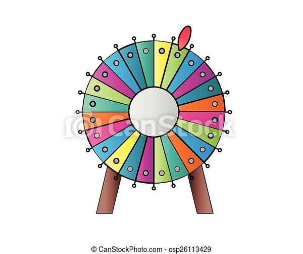 illustration vecteur de roue  fortune color u00e9  roue  de wheel of fortune clipart Money Wheel Clip Art