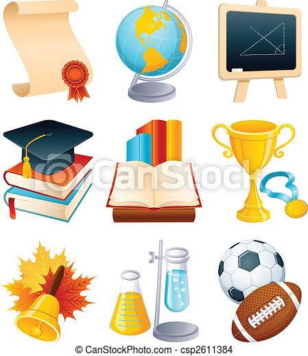 Education icon set - csp2611384