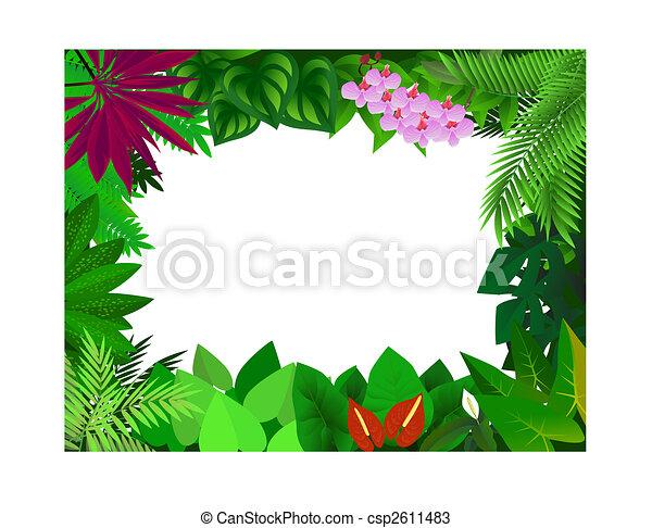 Forest frame - csp2611483