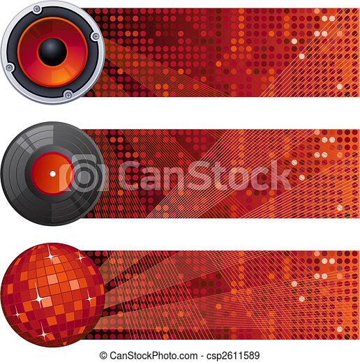 music banners - csp2611589