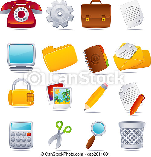 office icon - csp2611601