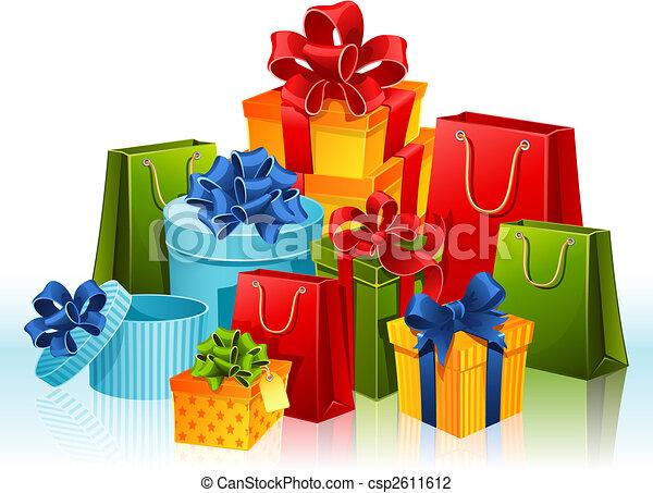 Ilustraciones de Vectores de regalos - vector, Ilustración ...