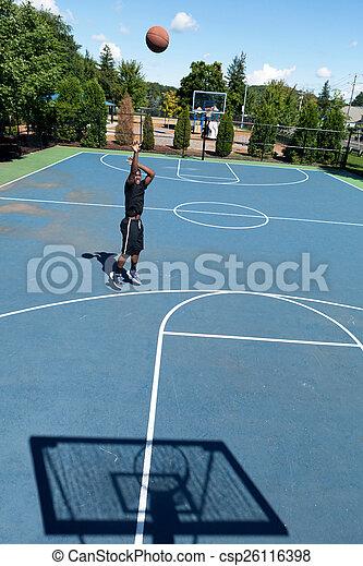 Three Point Basketball Shooter