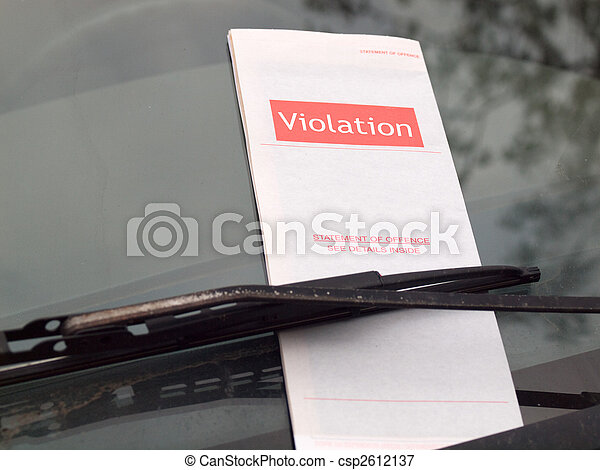 Parking Ticket - csp2612137