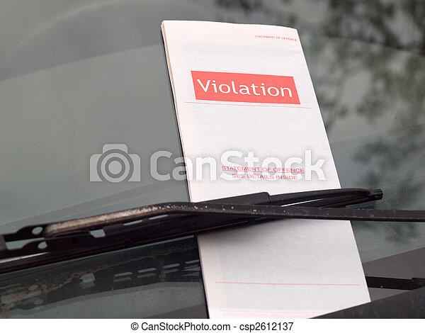 Parking Ticket - csp2612137