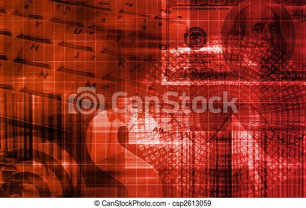 Finance Spreadsheet Tech Graph - csp2613059