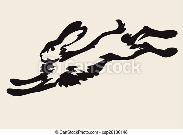 Hare Line Drawings Running Hare Csp26136148