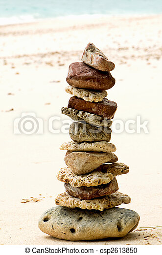 stones on the beach - wellbeing - csp2613850