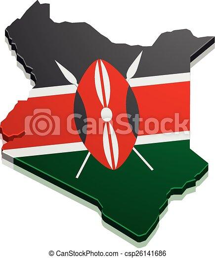 Map Kenya - csp26141686