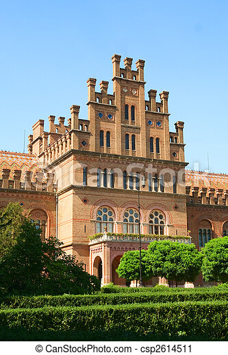 Chernivtsi national universiti building - csp2614511