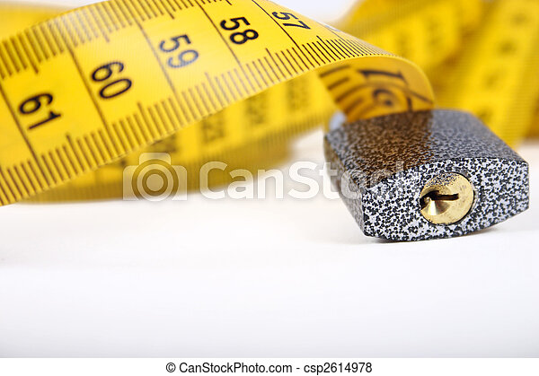 The lock on sewing metre - csp2614978