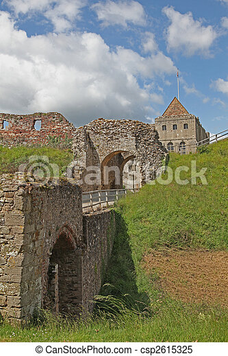 Castle at Castle Rising in north Norfolk. - csp2615325