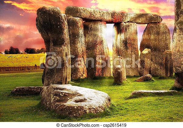 fantasía,  Stonehenge - csp2615419