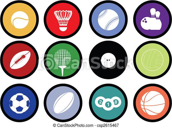 sports balls buttons - csp2615467