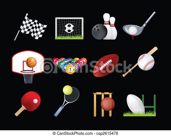 Sports icon set - csp2615476