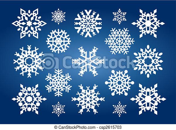 Snowflakes (vector) - csp2615703