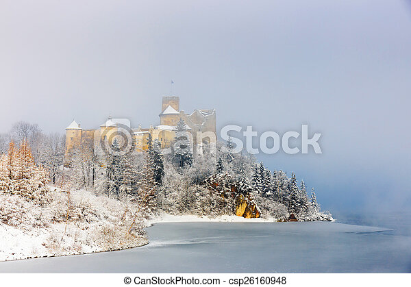 Beautiful view of Niedzica castle, Poland, Europe