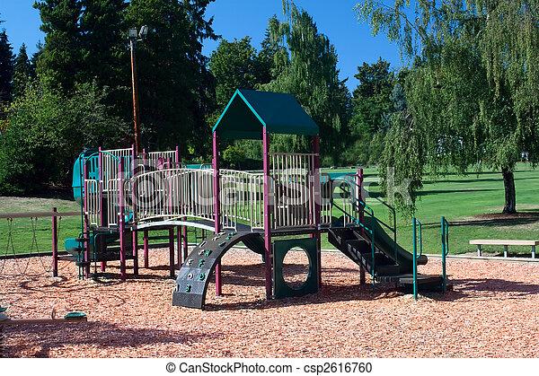 Playground Set in Beautiful Park - csp2616760
